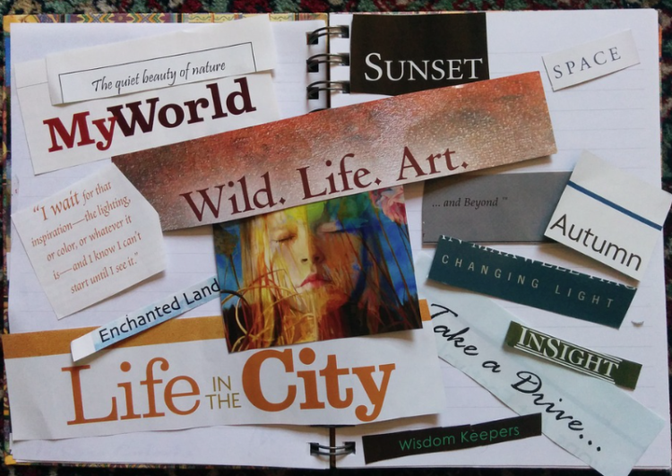 Vision board, Montreal Grandma, life success, inspiration, goals, commitment, Law of Attraction, Rhonda Massad, New Years Resolutions